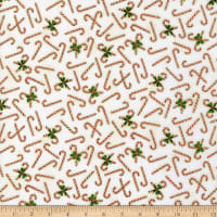 Kaufman Holiday Charms Candy Canes Ivory