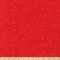 Kaufman Metallic Holiday Charms Dots And Spots Red