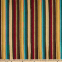 Laura & Kiran Cimmarron Stripe Woven Red/Turquoise/Gold