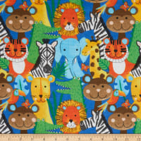 Comfy Packed Jungle Animals Blue