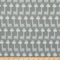Comfy Flannel Long Neck Dinosaurs Gray