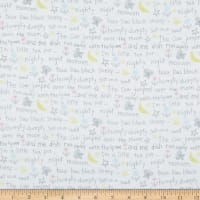Comfy Flannel Kid's Nursery Ryhme Words White