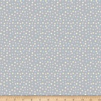 Comfy Flannel Yellow, Blue & Pink Dots Gray