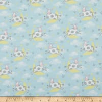 Comfy Flannel Cow Jumping Over The Moon Blue