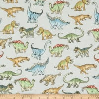 Comfy Flannel Scary Dinosaurs Gray