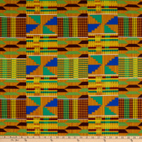 Shawn Pahwa Kente African Print ITY Phakama Yellow/Blue