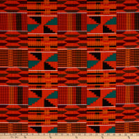 Shawn Pahwa Kente African Print ITY Phakama Orange/Black