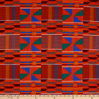Shawn Pahwa Kente African Print ITY Phakama Orange/Blue