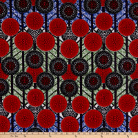 Shawn Pahwa Kente African Print ITY Fanyana Red/Black