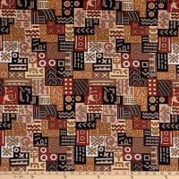 Shawn Pahwa African Print DTY Brushed Nhlahla Brown/Black