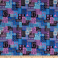 Shawn Pahwa African Print DTY Brushed Nhlahla Purple/Blue