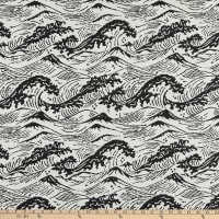 Bella Dura Home Performance Outdoor Great Wave Woven Onyx