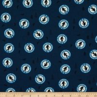 Riley Blake Face Mask Cotton Poplin Sasquatch Navy