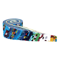 """Riley Blake All Aboard With Thomas & Friends 2.5"""" Rolie Polie 40 Pcs."""