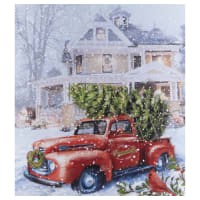 """Riley Blake Christmas Time Is Here 36"""" Panel Christmas Delivery Multi"""