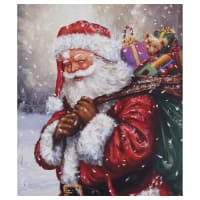 """Riley Blake Christmas Time Is Here 36"""" Panel Jolly Old St Nick Multi"""