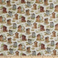 Northcott Nature's Calling Nature's Calling Outhouses Beige Multi
