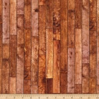 Northcott The Cardinal's Visit Distressed Wood Planks Brown Multi
