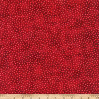 Northcott Winter Welcome Crackle Dot Red