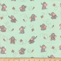 Flannel Elephant and Butterfly Mint