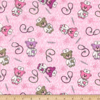 Flannel Doctor Teddy Pink