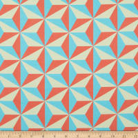 Paintbrush Studio Let The Good Times Roll Geometric Star Red/Blue/Cream