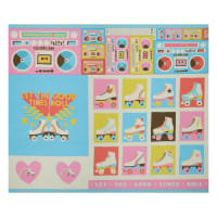 "Paintbrush Studio Let The Good Times Roll Boombox 36"" Panel Multi"