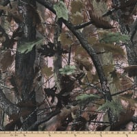 Outdoor Poly Coated Canvas Camo Print OakBrush Brown