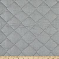 Double Sided Quilted Heat-Tex Solid Silver/Grey