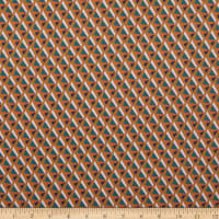 Paintbrush Studio Fabrics Tiger Lily Trail Geo Teal/Gold