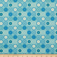 Paintbrush Studio Sewing Mood Large Buttons Light Blue