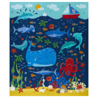 Michael Miller Under The Sea Just Keep Swimming Panel Blue