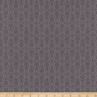 Cotton Easter Bunny Outline Grey