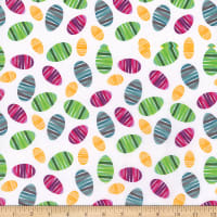 Cotton Easter Decorated Eggs Multi