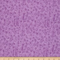 Cotton Easter Doodles Bright Purple