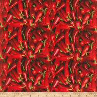 Cotton Fruits-Vegetables Peppers Red/Green
