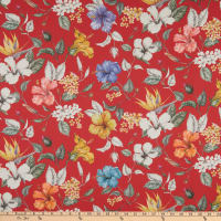 Liberty Fabrics Tana Lawn Paradise Bay Red/Yellow Multi