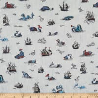 Liberty Fabrics Tana Lawn Sea Myths Blue Jeans Multi