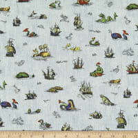 Liberty Fabrics Tana Lawn Sea Myths Blue Multi