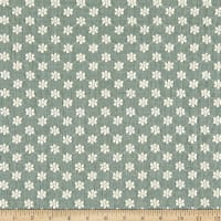 Telio Daisy Embroidered Cotton Blend Voile Forest Green