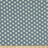 Telio Daisy Embroidered Cotton Blend Voile Dusty Blue