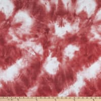Telio Rayon Blend Stretch French Terry Tie Dye Coral