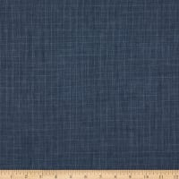 Telio Florence Linen Chambray Window Pane Yarn Dyed Navy