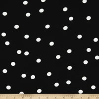 Telio Devon Rayon Poplin Print Floating Dot Black/White