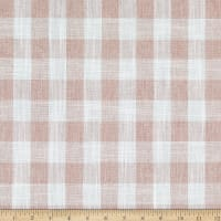 Telio Cotton Linen Blend Yarn Dyed Gingham Check White/Pink