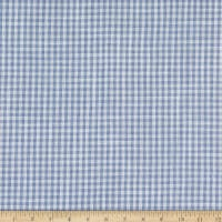 Telio Cotton Linen Blend Yarn Dyed Gingham Small Check Blue/White