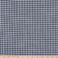 Telio Cotton Linen Blend Yarn Dyed Gingham Small Check Navy/white
