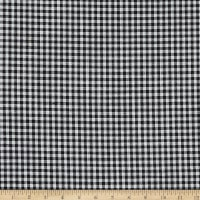 Telio Cotton Linen Blend Yarn Dyed Gingham Small Check Black/White
