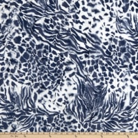 Shannon Minky Luxe Cuddle Exotic Navy/Snow