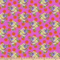 Tula Pink Curiouser and Curiouser Painted Rose Daydream